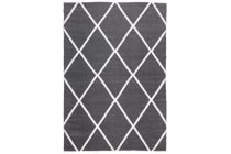 Coastal Indoor Out door Rug Diamond Black White 270x180cm
