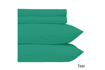 Microfiber Sheet Set Teal Double