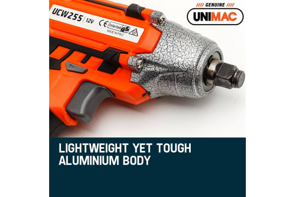 NEW Unimac 1/2' Cordless Impact Wrench - Lithium-Ion Battery Rattle Gun Sockets