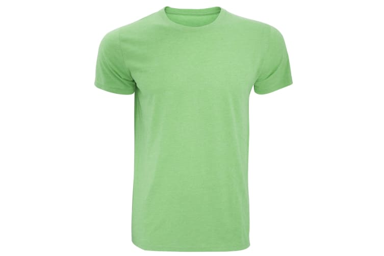 Russell Mens Slim Fit Short Sleeve T-Shirt (Green Marl) (XS)