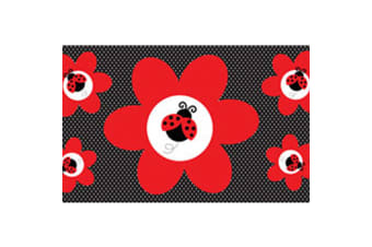 Creative Converting Ladybug Fancy Giant Party Banner (Red/Black)