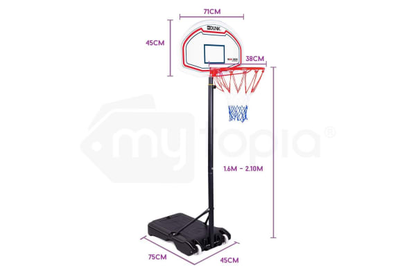 DR. DUNK Basketball Hoop Stand System Kids Height Adjustable Portable Net Ring