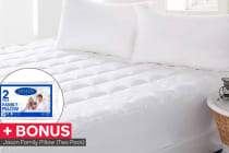 Jason Anti-Bacterial Mattress Topper with BONUS Pillow Pack