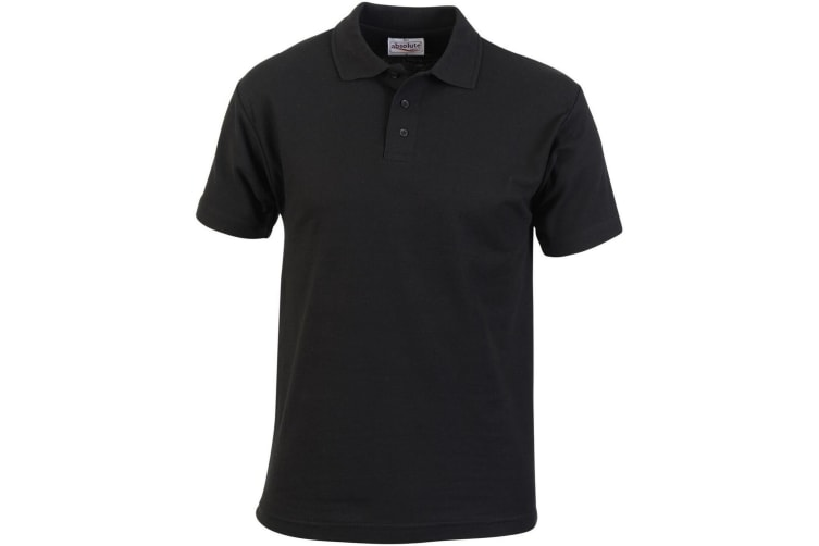 Absolute Apparel Mens Pioneer Polo (Black) (S)
