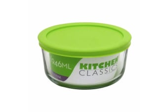 Kitchen Classics Glass Rectangular Container Food Storage Box 946ml