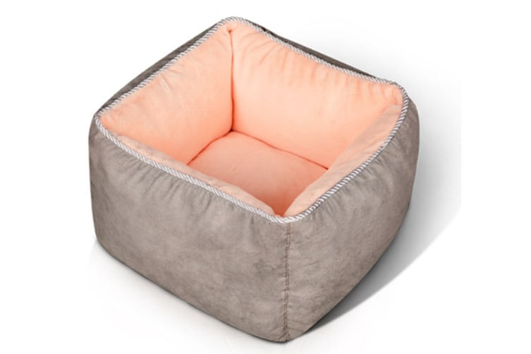 Select Mall Cute Winter Deep Sleep Cat Litter Colorful Pet Supplies Warm Nest Washable Dog Bed-7 - Size S