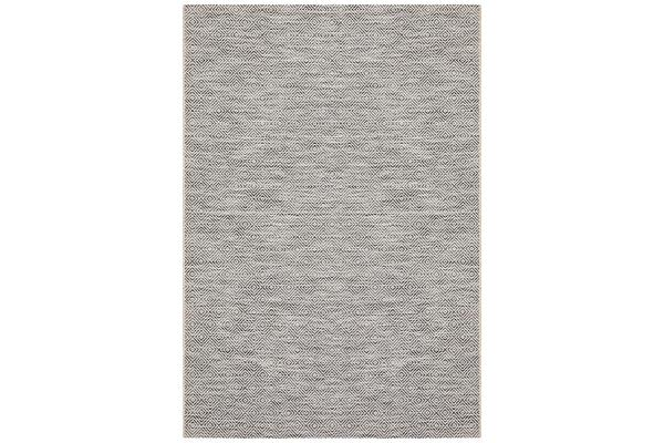 Wyatt Charcoal Grey Coastal Geometric Runner Rug 400x80cm