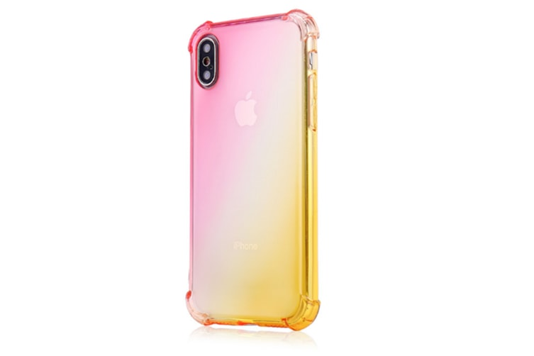 Slim Pink Gold Color Gradient Shock Absorption Protective Cases For Iphone 7/8Plus