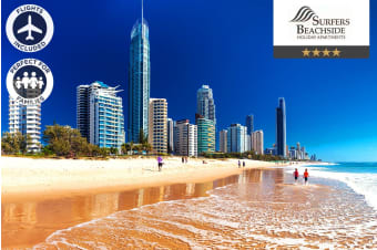 GOLD COAST: 5 Nights at Surfers Beachside Apartments Including Flights for Four