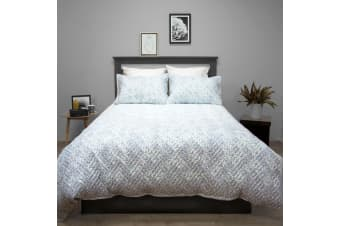 Terrace Quilted Embossed Quilt Cover Set QUEEN