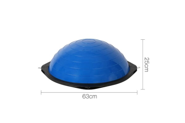 BOSU Trainer Ball with Resistance Bands (Blue)