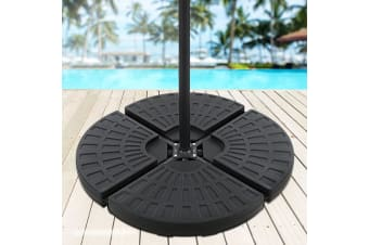 Outdoor Umbrella Stand 4x Base Pod Plate Sand/Water Patio Cantilever