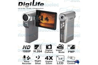 DIGILIFE DIGITAL VIDEO CAMCORDER FULL HD 1080P RECORDER NEW MINI 4X ZOOM NEW