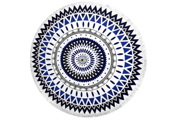 TODO Luxury Thick Microfiber Round Beach Towel Throw Rug Ttowel02