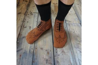 Brogue Novelty Shoe Socks