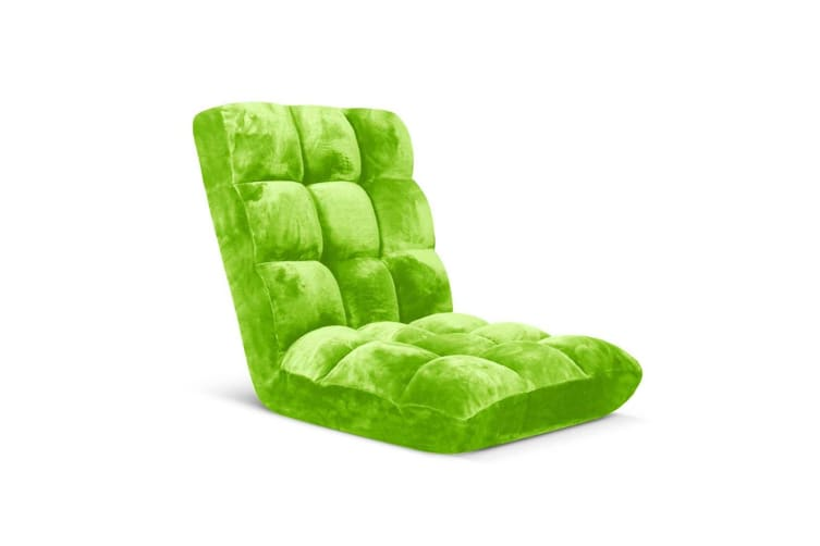 SOGA Floor Recliner Folding Lounge Sofa Futon Couch Folding Chair Cushion Green
