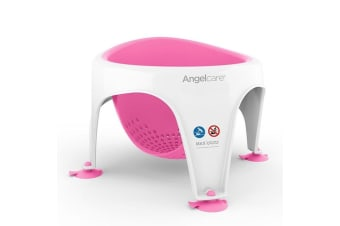 Angelcare Bath/Shower Support Ring Seat Baby/Infant Bathing Clean 6m-10m Pink