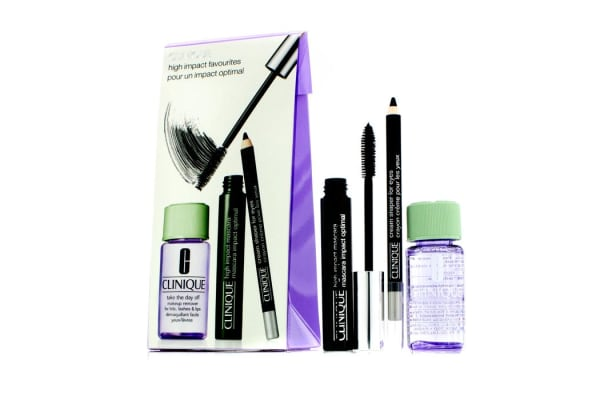 Clinique High Impact Favourites Coffret: High Impact Mascara + Cream Shaper For Eyes + Take The Day Off Makeup Remover (3pcs)
