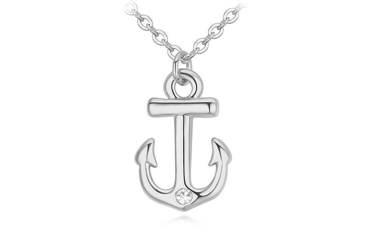 Mighty Anchor Necklace Embellished with Swarovski crystals