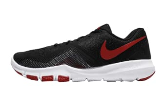 Nike Men's Flex Control II Shoes (Black/Gym Red/White, Size 9.5 US)
