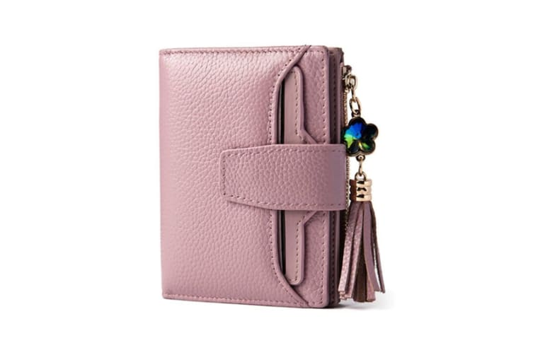 Short Wallet Women Small Purse Lady Wallets Quality Retro Female Coin Purses Card Holder Pink