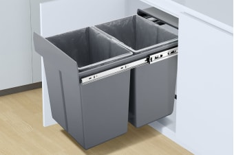 Kogan Twin Pull Out Bin (2 x 20L)