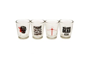 The Walking Dead Official Shot Glass Set (Pack Of 4) (Clear) (One Size)