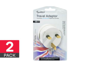 2-Pack Sansai Travel Adapter - UK, Asia, Middle East & Africa (STV-11)
