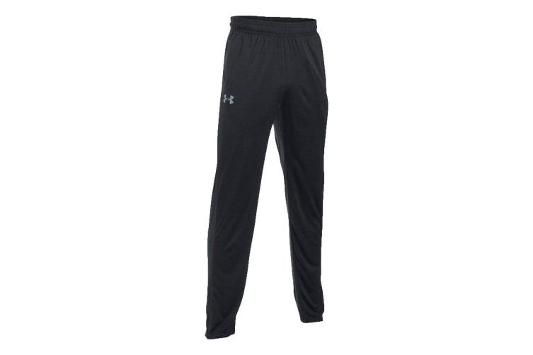 Under Armour Men's Tech Pants (Black/Steel, Size Medium)