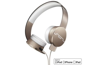 Sol Republic Tracks HD2 Gold High Definition Headphones Headset Mic for iPhone