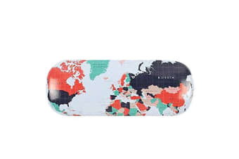 Something Different Map Print Glasses Case (Multicoloured) (One Size)