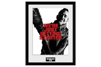 The Walking Dead Negan 16 x 12 Picture (Black/White/Red) (One Size)