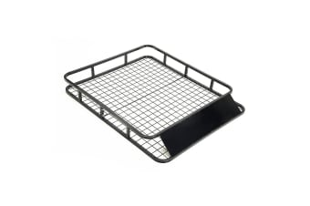 Steel Roof Luggage Carrier Basket 4WD 1210mm - BLACK