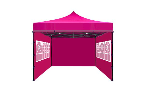 3x3m Party Pop Up Gazebo Marquee Canopy Folding Tent FUSCHIA