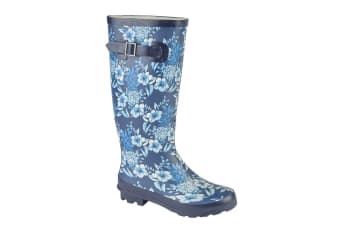 Woodland Womens/Ladies High Leg Wellington Boot (Navy/Blue)