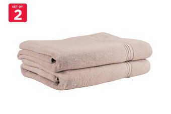 Onkaparinga Ethan 600GSM Bath Sheet Set of 2 (Sand)