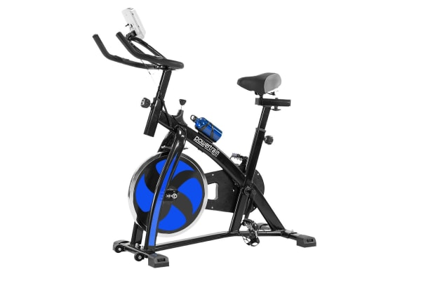 Powertrain flywheel exercise spin bike home gym cardio blue