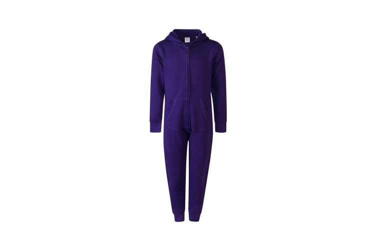Skinnifit Minni Childrens/Kids Zip Up All-In-One (Purple) (3/4 Years)