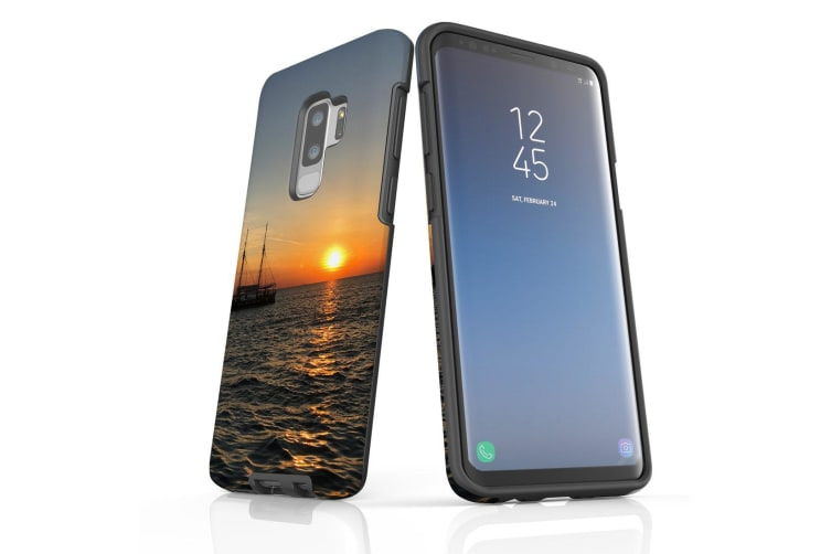 For Samsung Galaxy S9+ Plus Case Armour Cover  Sailing Sunset