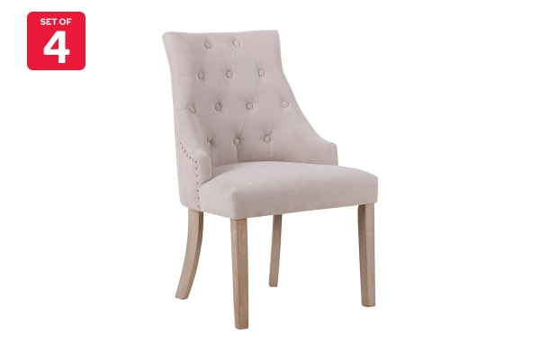 Shangri-La Set of 4 French Provincial Allete Dining Chairs (Beige)