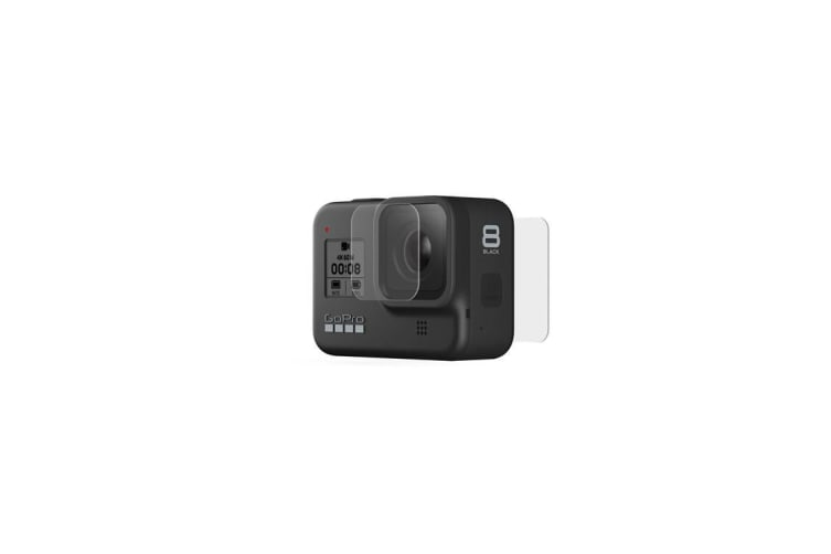 GoPro Hero 8 Black Tempered Glass Lens + Screen Protectors