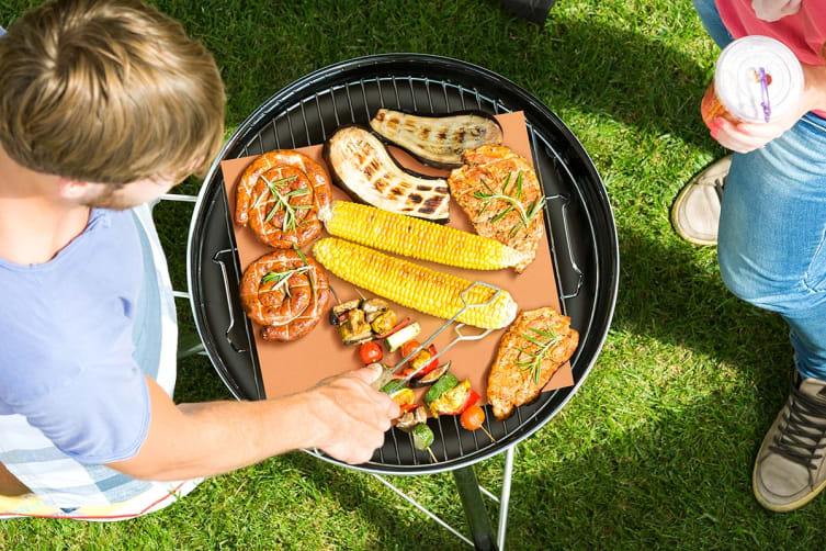 4 Pack Non-Stick BBQ Grill Mat (Copper)
