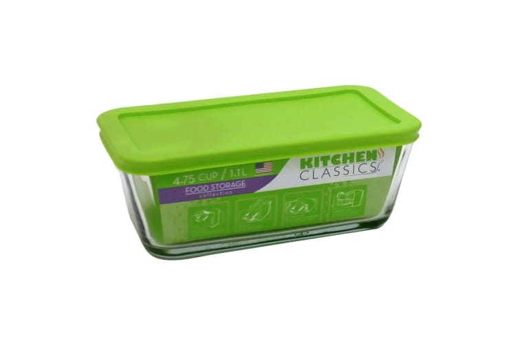 Kitchen Classics Glass Rectangle Container With Lid - 4.75 Cups / 1.1l