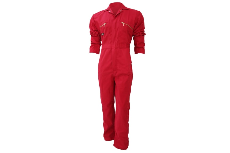 Dickies Redhawk Zip Front Coverall Regular / Mens Workwear (Pack of 2) (Red) (36inch)