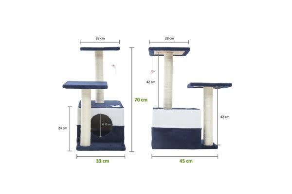 Cat Tree Scratcher MONO 70cm - BLUE