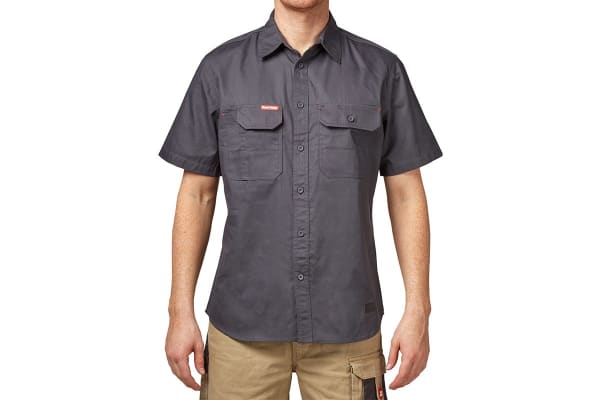 Hard Yakka Men's Legends Short Sleeve Shirt (Charcoal, Size S)