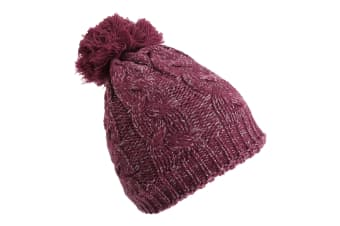 ProClimate Womens/Ladies Sparkle Thinsulate Beanie Hat (Wine)