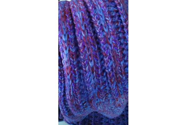 Knitted Mermaid Tail Blanket Crochet Leg Wrap Adult Ladies Dark Purple 180X90Cm