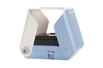 Tomy KiiPix Smartphone Instant/Foldable/Portable Picture/Photo Printer Sky Blue