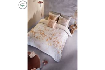 Evolve Powder Cotton Sateen Quilt Cover Set by Bedding House